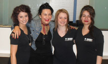 Analise Langdon, Natalie La Volti and Saleena Cheetamun  with Teacher Veronica Di-Girolamo