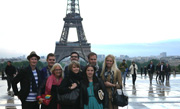 Students on exchange in France