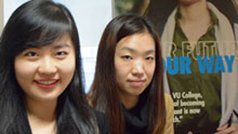L-R: Jennie Liao and Charice Gui of AIE Global Education Network