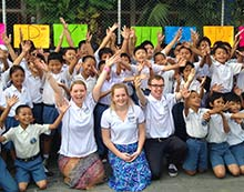 Adam Devenish on his placement in Indonesia