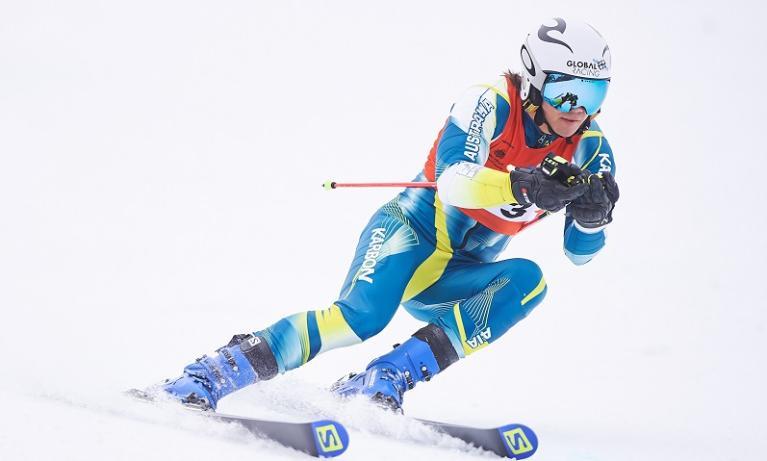 Elite student athlete Harry Laidlaw at Unisport Nationals Snow