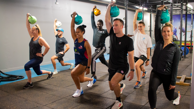 Group personal training in VU Footscray Park gym