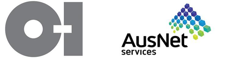 o-i glass and ausnet services logos