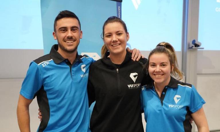 VU sport team captains and manager