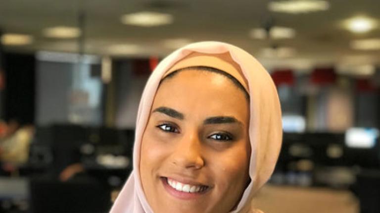 Victoria University (VU) criminal justice student Fatima Abdul.
