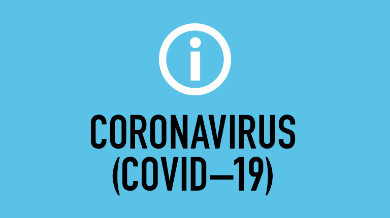 Information symbol and the words Coronavirus (COVID-19)