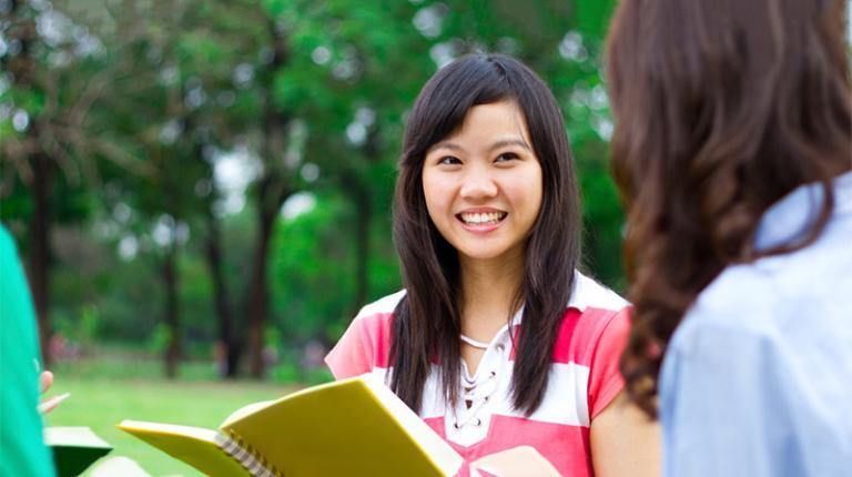 VU alumna in China.