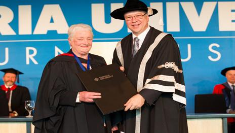 First Vu Chancellor S Medal Awarded Victoria University Melbourne Australia