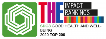 THE impact rankings logo SDG3 Good Health & Well-being 2020 top 200